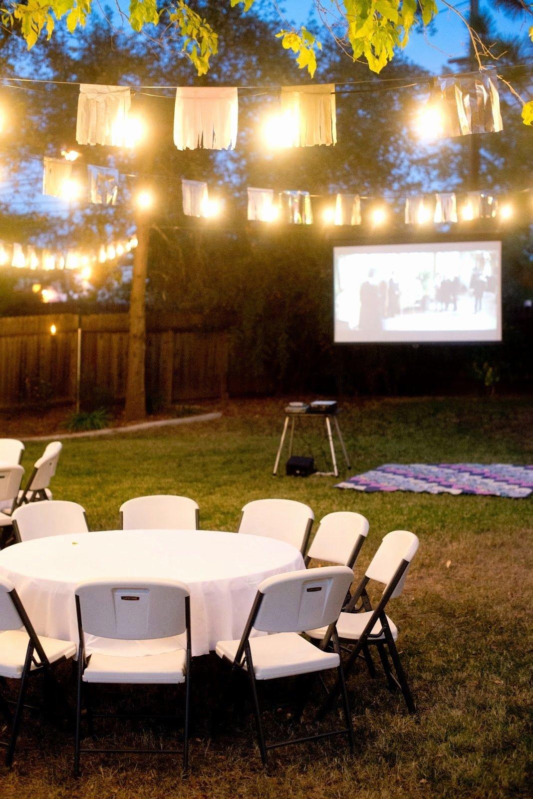 Backyard Birthday Decoration Ideas Unique Fall Backyard Birthday Party and Movie Night