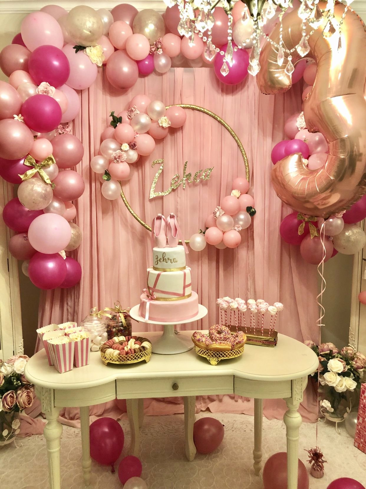 Ballerina Birthday Decoration Ideas Beautiful 3rd Birthday Party