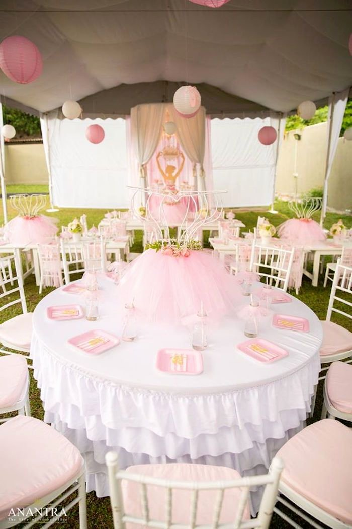 Ballerina Birthday Decoration Ideas Fresh Elegant Ballerina Birthday Party