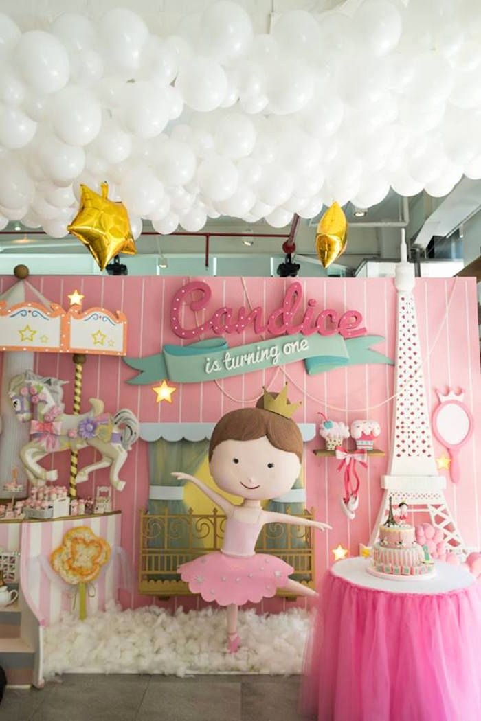 Ballerina Birthday Decoration Ideas Fresh Pink Paris Ballerina Birthday Party