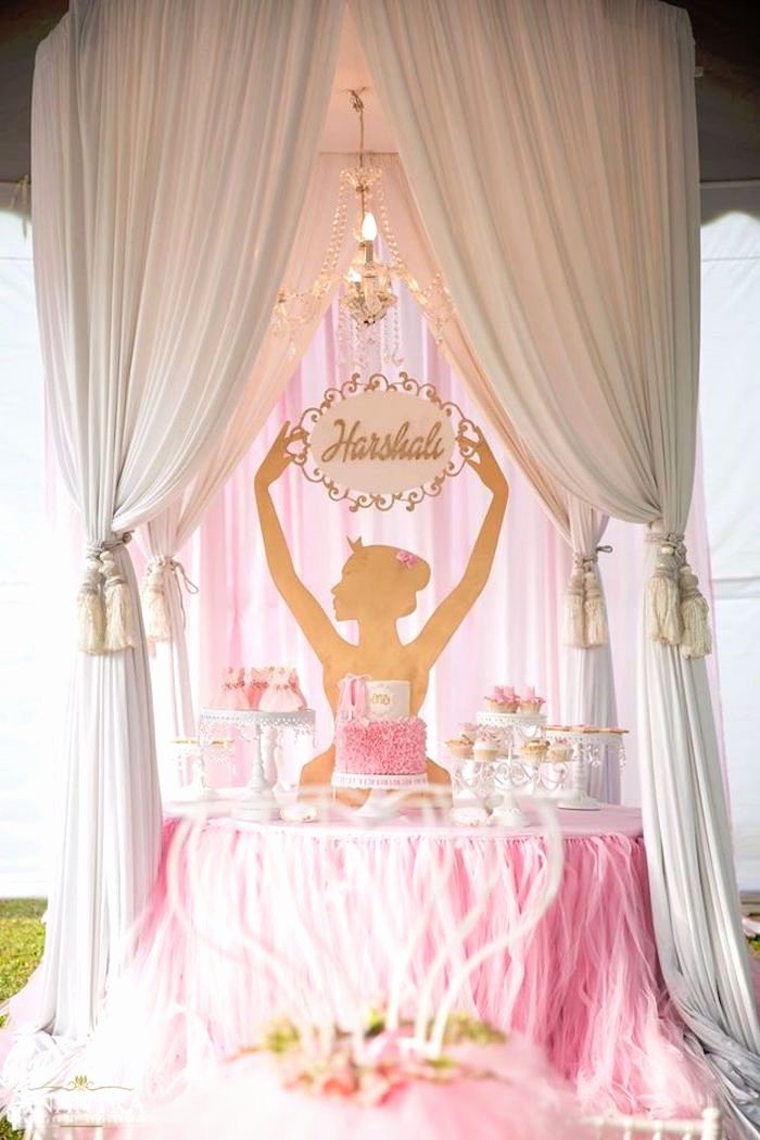 Ballerina Birthday Decoration Ideas Inspirational Elegant Ballerina Birthday Party