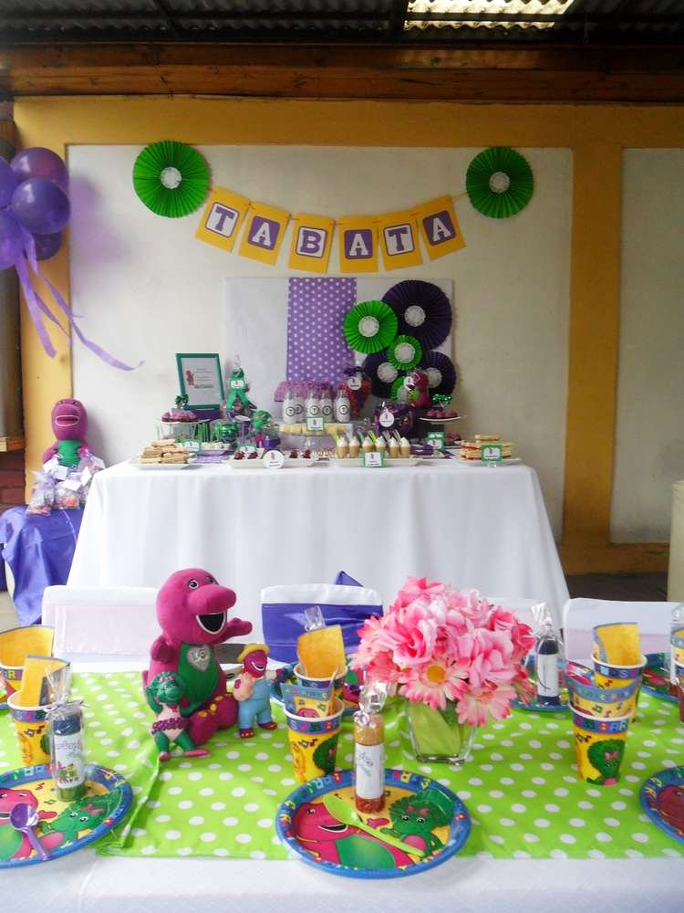 Barney Birthday Decoration Ideas Inspirational Barney the Dinosaur Birthday Party Ideas
