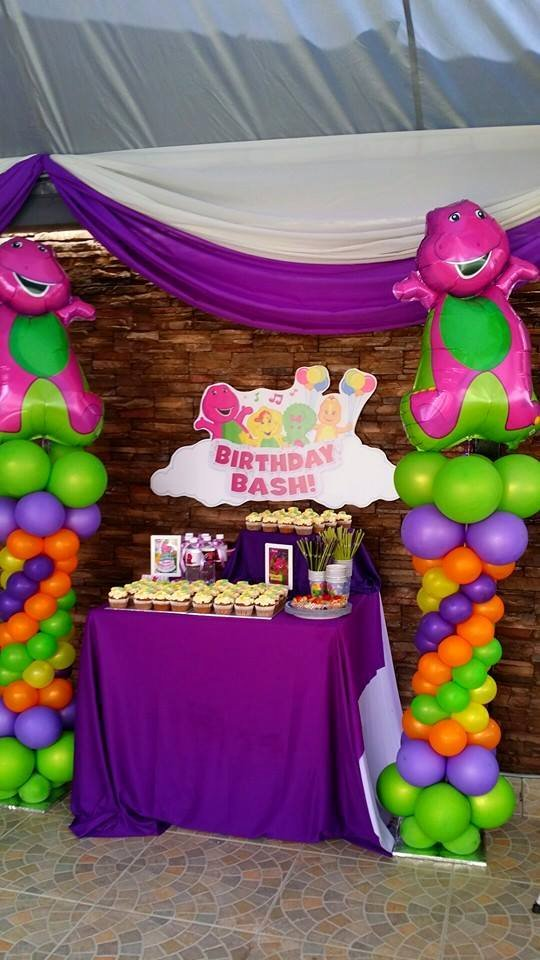 Barney Birthday Decoration Ideas Inspirational theme Barney 1st Birthday for Teehan Raj – Its More Than
