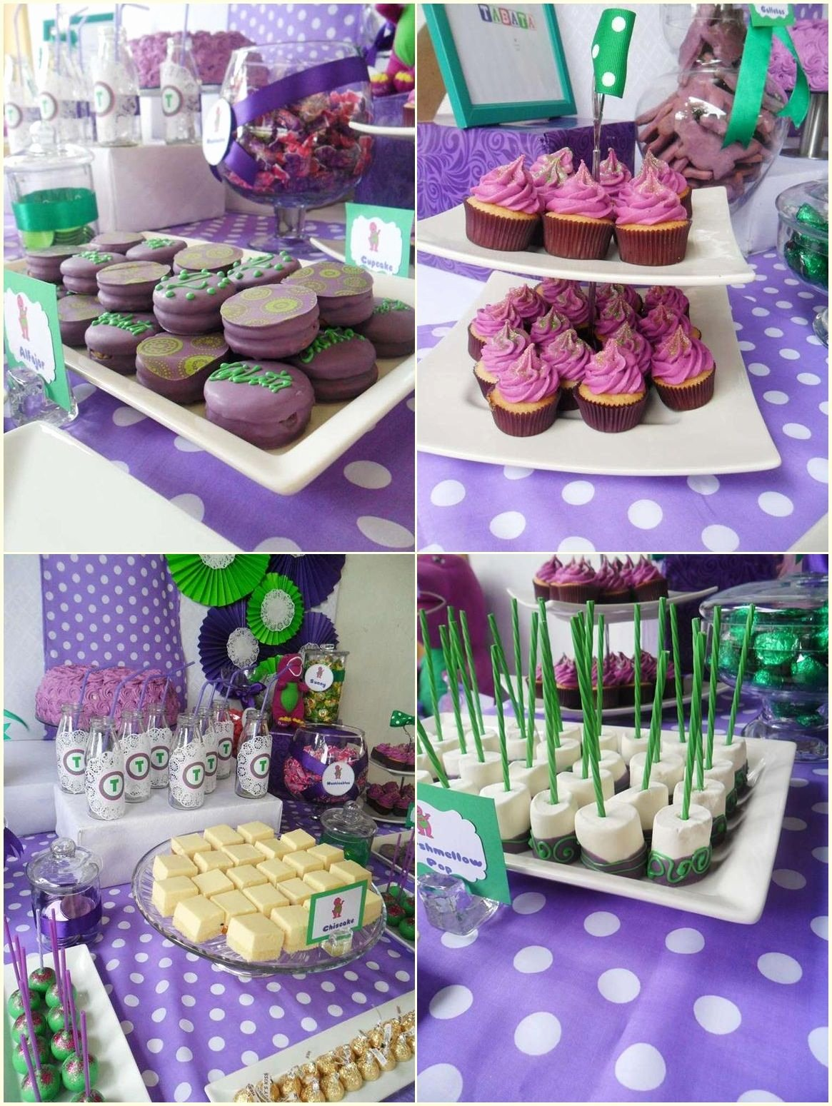 Barney Birthday Decoration Ideas New Barney Party Food Ideas