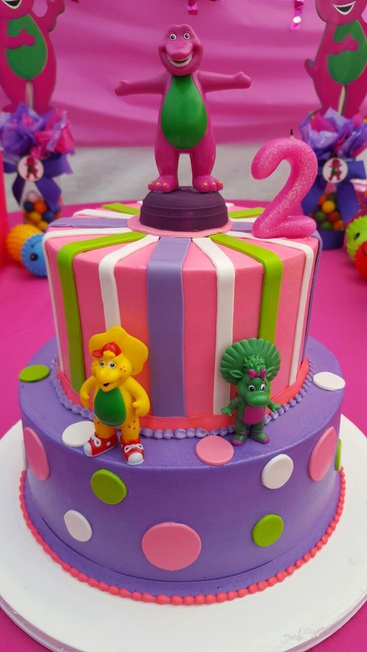 Barney Birthday Decoration Ideas New Barney theme Birthday Cake for Audrey S Birthday Party