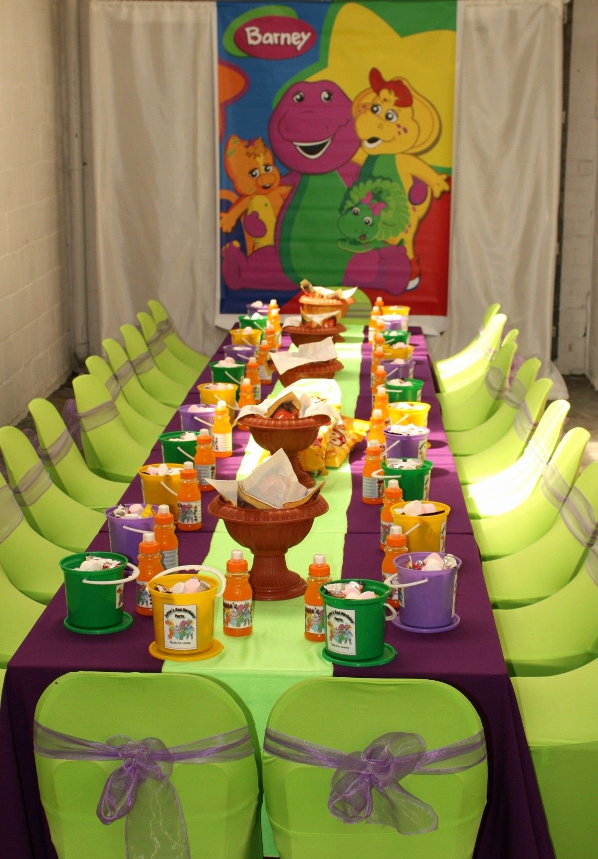 Barney Birthday Decoration Ideas Unique Barney theme Party