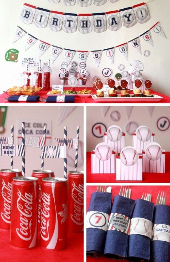 Baseball Birthday Decoration Ideas Beautiful Baseball Party Collection Birthday Party Ideas for Kids