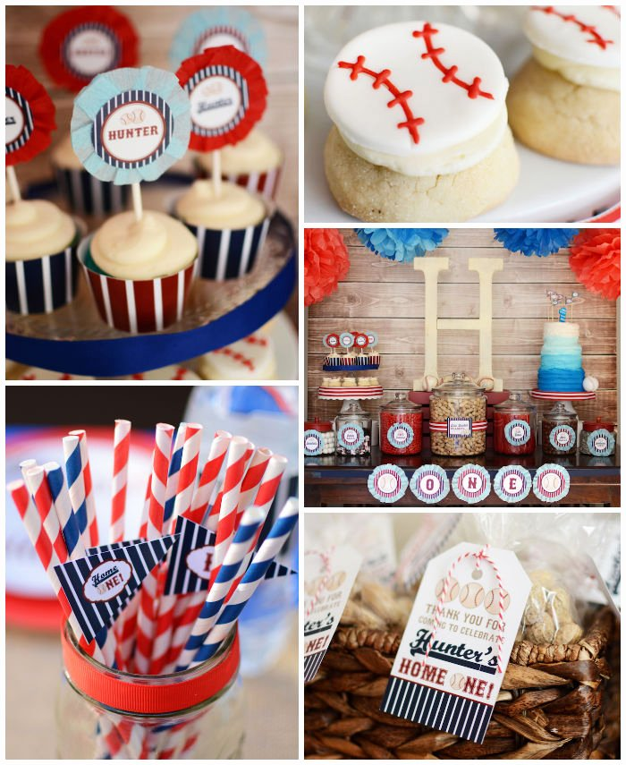 Baseball Birthday Decoration Ideas Fresh Kara S Party Ideas Home One Baseball themed Birthday Party