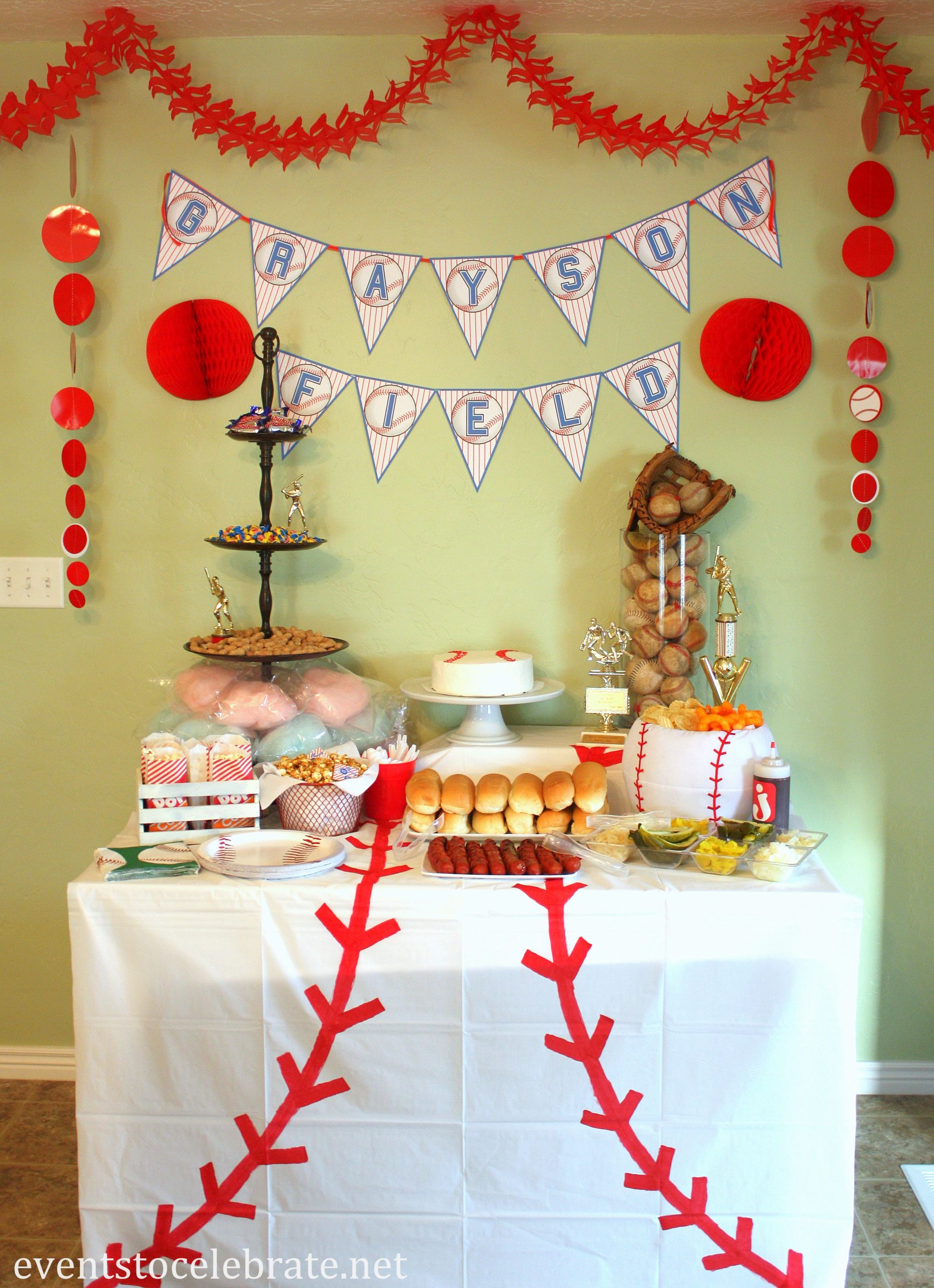 Baseball Birthday Decoration Ideas Luxury Baseball Birthday Party Ideas