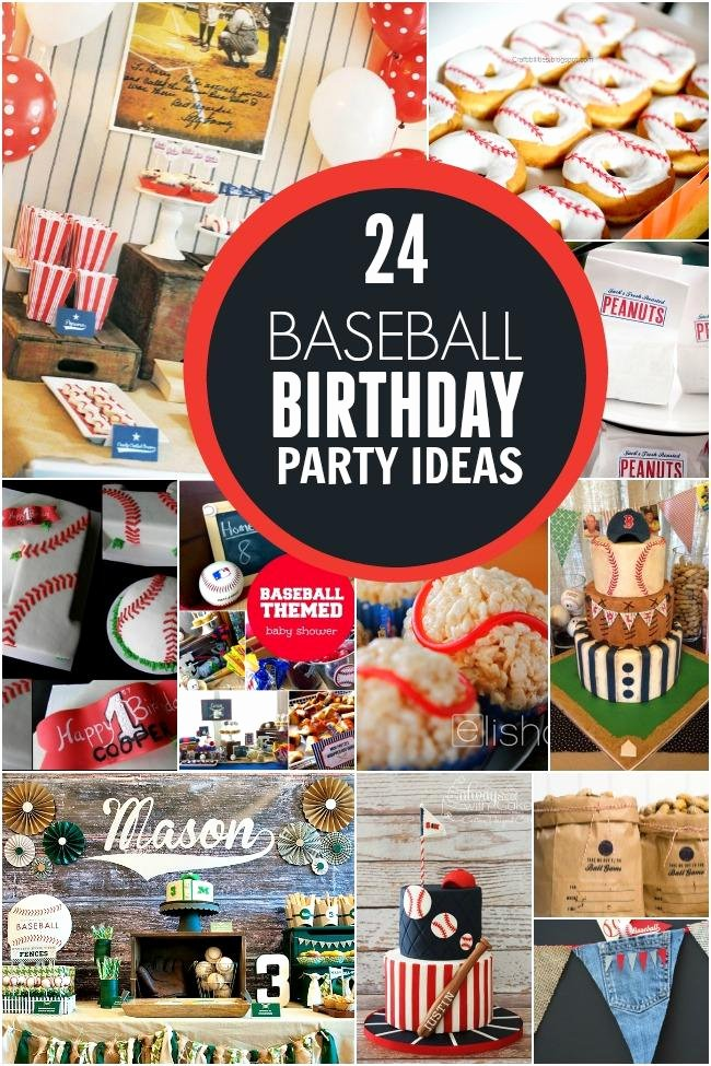 Baseball Birthday Decoration Ideas New 24 Baseball Birthday Party Ideas Spaceships and Laser Beams