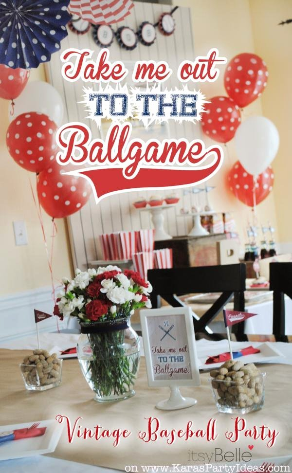 Baseball Birthday Decoration Ideas New Kara S Party Ideas 79th Birthday Boy Vintage Baseball Party