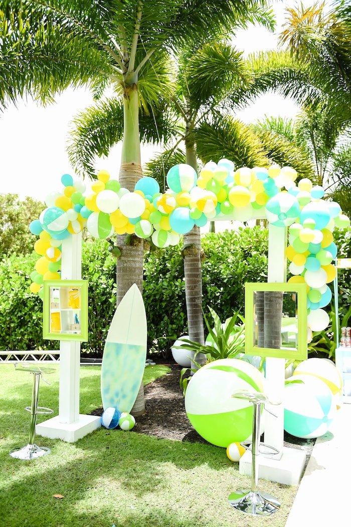 Beach Birthday Decoration Ideas Fresh Kara S Party Ideas Surf S Up Beach Birthday Party