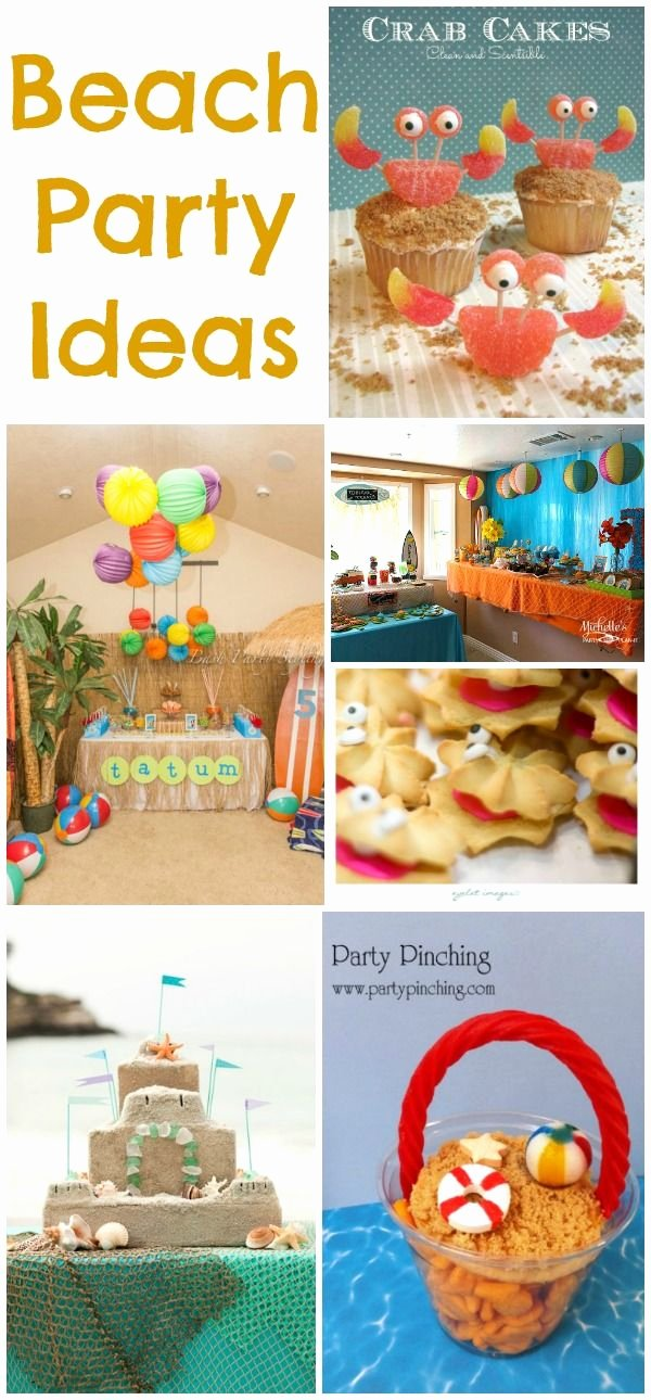 Beach Birthday Decoration Ideas Lovely Beach Party Ideas Collection Moms & Munchkins