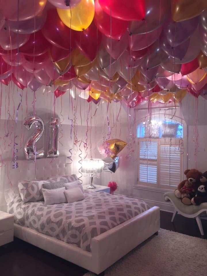 Bedroom Birthday Decoration Ideas Inspirational Stephanie Loves Balloons so for Her 21st Birthday the