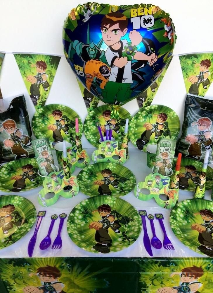Ben 10 Birthday Decoration Ideas New Ben 10 Party Supplies Boys Birthday Party Pack 103 Pcs