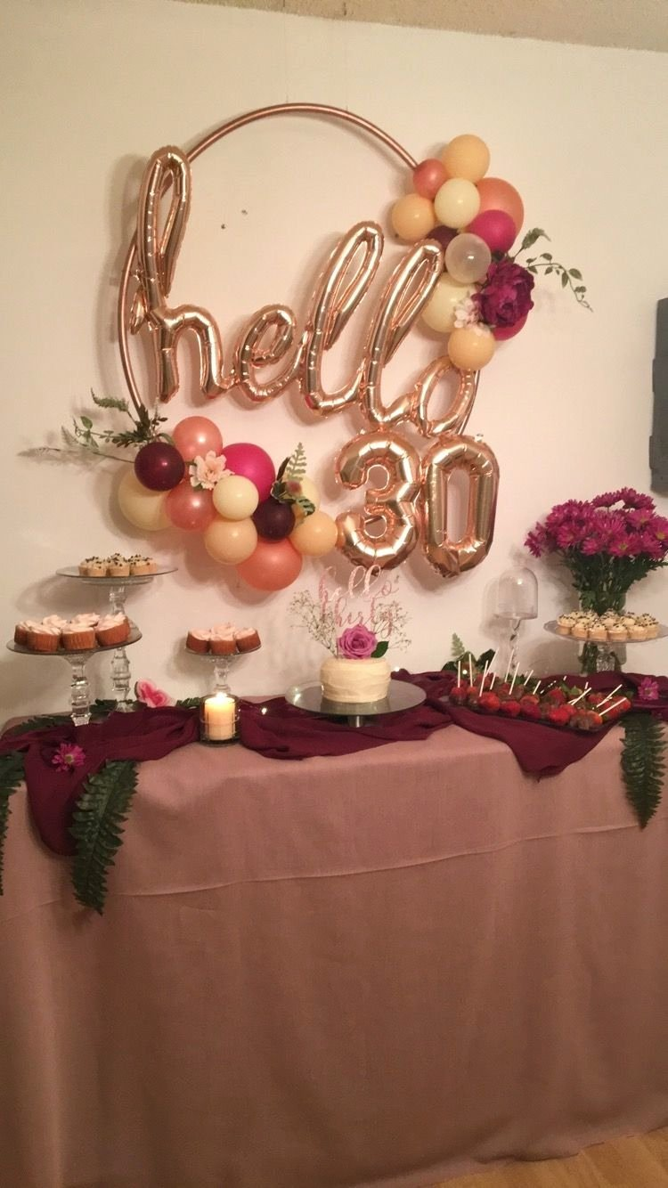 Birthday Decoration Ideas 2020 Elegant 30th Birthday Party Decorations for Trending 2020 In 2020