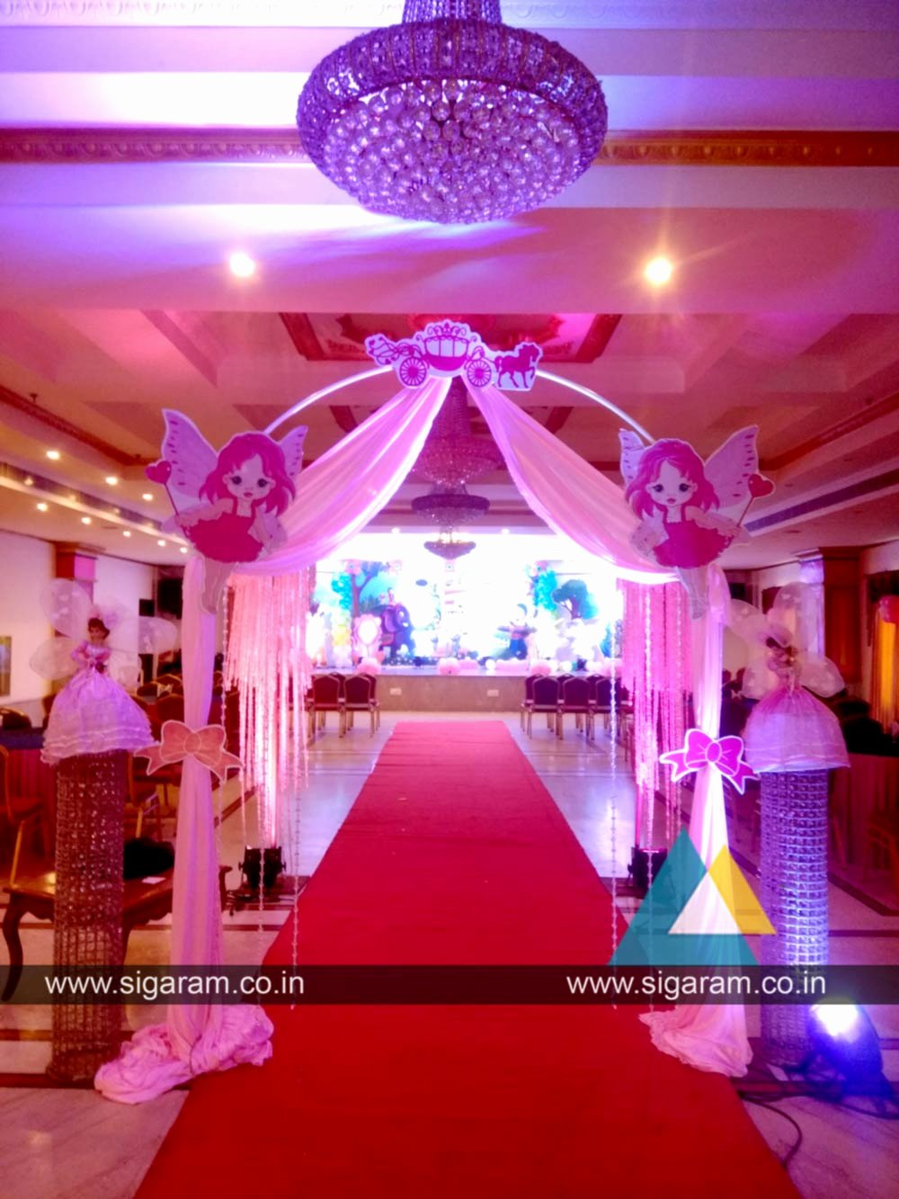 Birthday Decoration Ideas at Hall Luxury Kanmani Rhymes theme Birthday Party Decoration at Le Royal