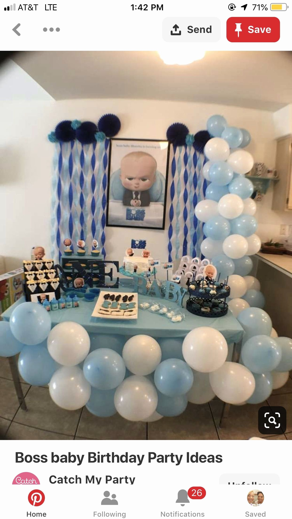 Birthday Decoration Ideas at Home for Baby Boy Elegant Pin by Lia Bias On Boss Baby