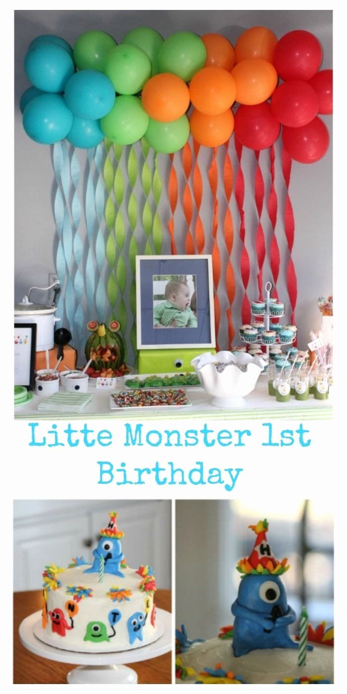 Birthday Decoration Ideas at Home for Baby Boy Fresh 1st Birthday Party Decorations at Home Inspirational Baby