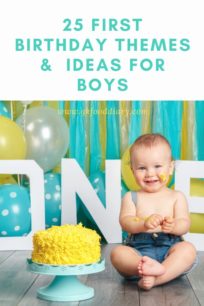 Birthday Decoration Ideas at Home for Baby Boy Fresh 25 First Birthday themes and Ideas for Boys