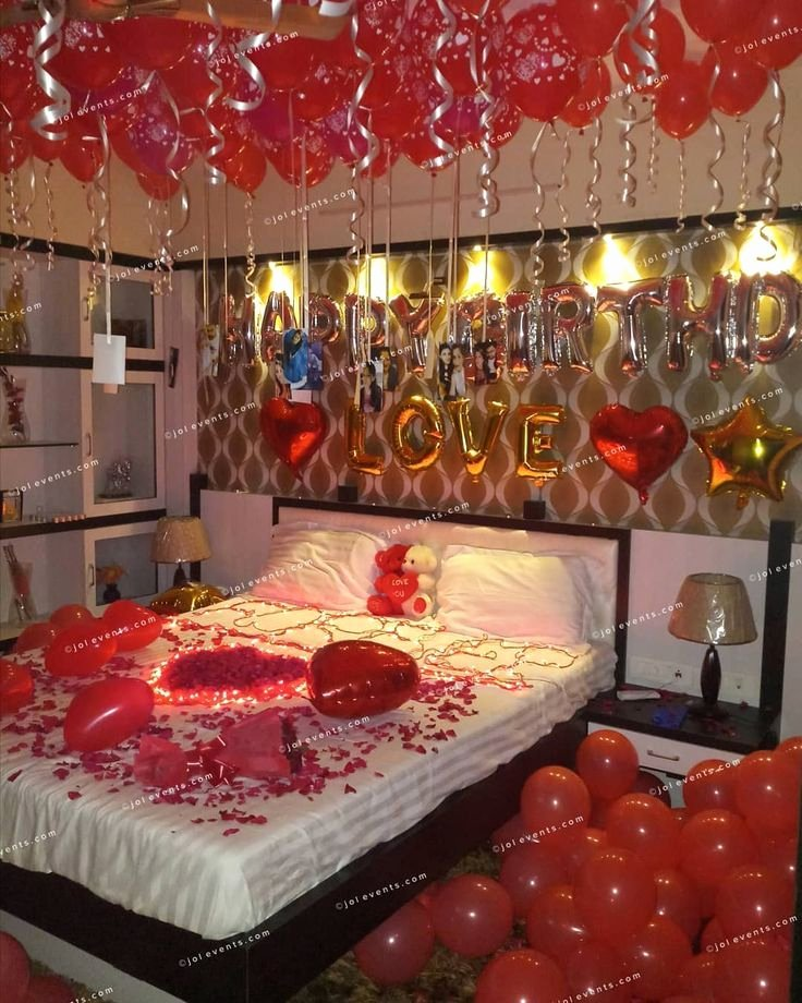 Birthday Decoration Ideas at Home for Wife Lovely Balloondecoration Balloondecor Balloondecorationinpune