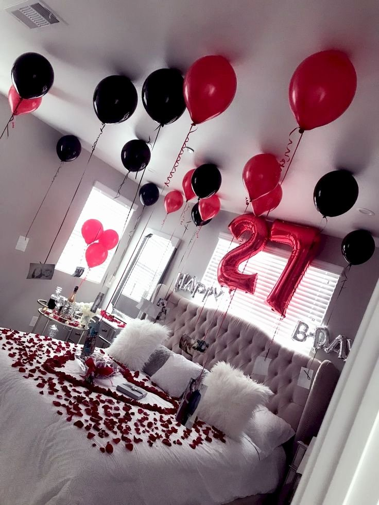 Birthday Decoration Ideas at Home for Wife Lovely Birthday Surprise Party Ideas Jihanshanum Birthday