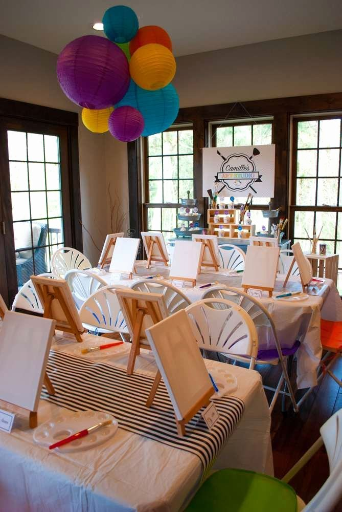Birthday Decoration Ideas at Restaurant Beautiful Art Birthday Party Ideas In 2020