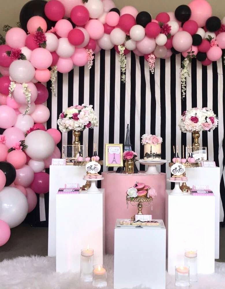 Birthday Decoration Ideas Balloon Awesome French Parisian Birthday Party Ideas