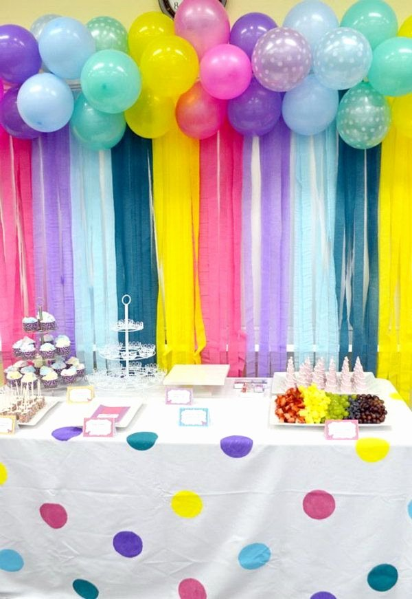 Birthday Decoration Ideas Balloon Fresh Adorable Balloon and Streamers Backdrop