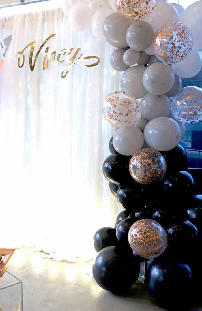 Birthday Decoration Ideas Balloon New Modern Geometric 21st Birthday Party