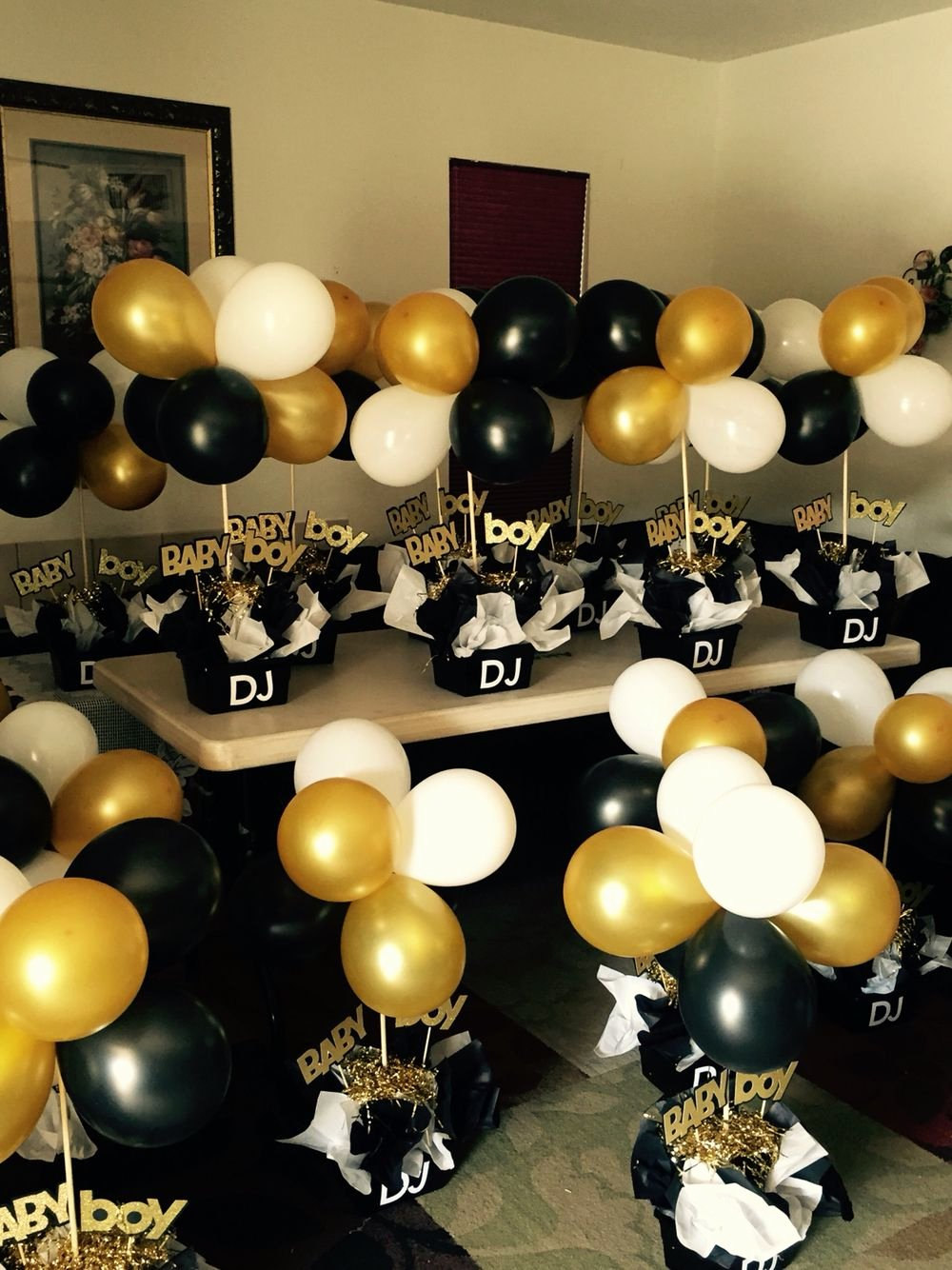 Birthday Decoration Ideas Black and Gold Beautiful Black and Gold Babyshower Centerpieces