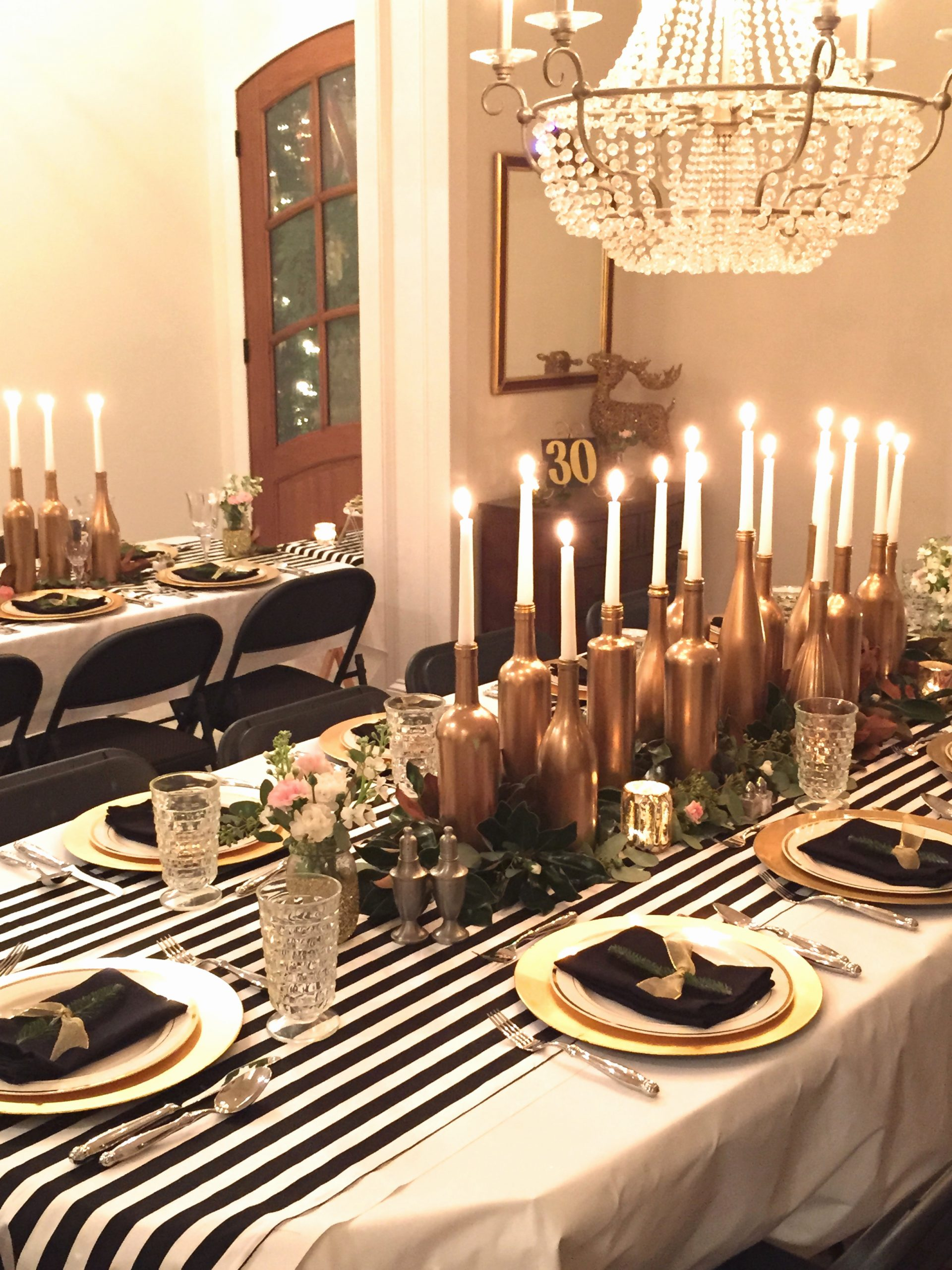 Birthday Decoration Ideas Black and Gold Elegant Gold Black and White My 30th Birthday Dinner Party