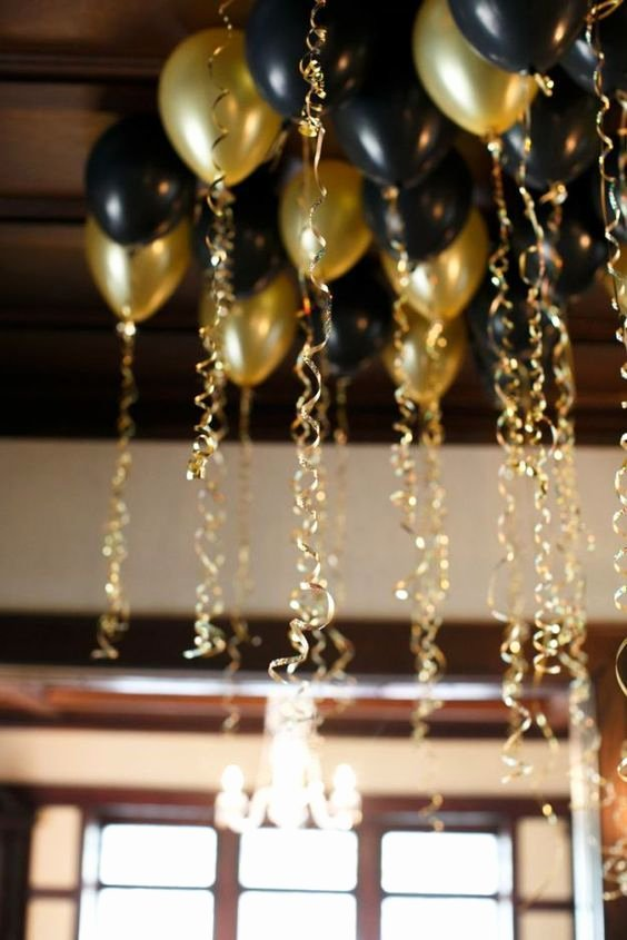 Birthday Decoration Ideas Black and Gold Lovely Black and Gold Party Decor