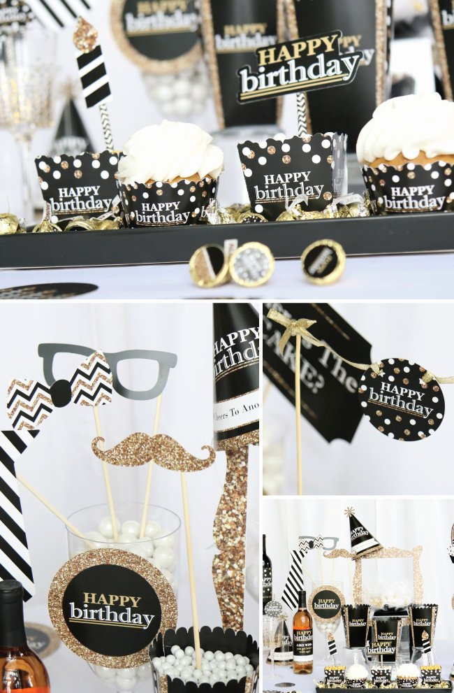 Birthday Decoration Ideas Black and Gold Unique Adult Birthday Ideas Black and Gold Party Supplies