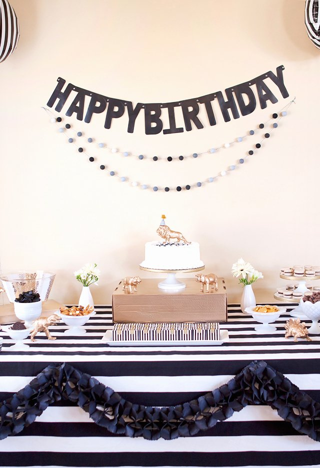 Birthday Decoration Ideas Black and Gold Unique Party Black White Gold Birthday Party