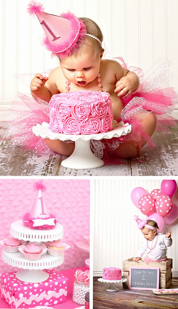 Birthday Decoration Ideas for 1 Year Old Baby Girl Best Of Adorable Pretty In Pink 1st Birthday Party Hostess with