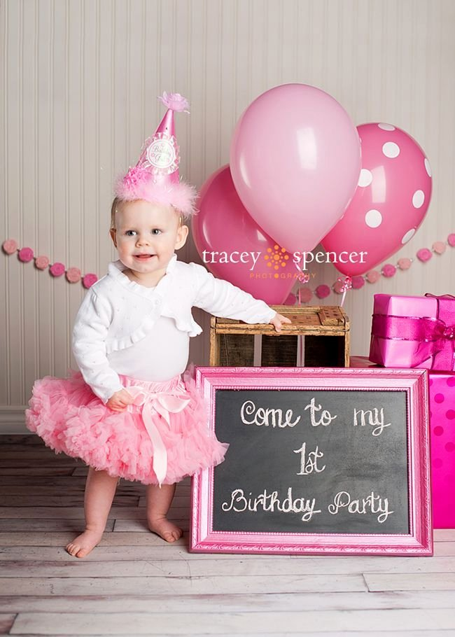 Birthday Decoration Ideas for 1 Year Old Baby Girl New First Girl Birthday