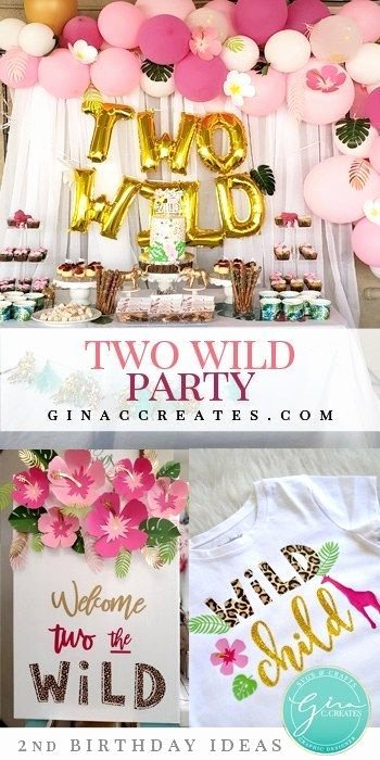 Birthday Decoration Ideas for 2 Year Girl New Two Wild 2nd Birthday Party Idea for Girls