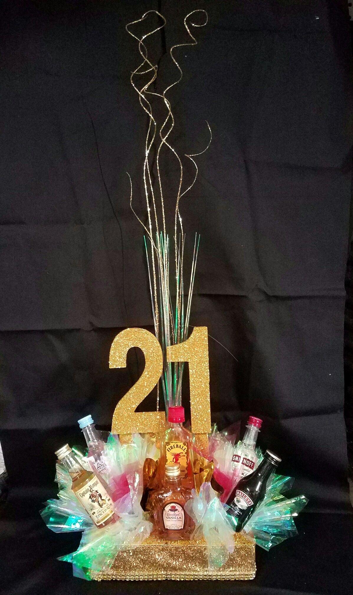 Birthday Decoration Ideas for 21st Luxury 21 St Birthday Centerpiece