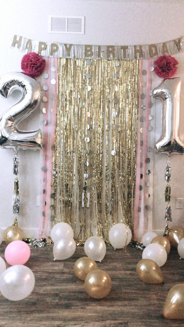 Birthday Decoration Ideas for 21st Luxury 21st Birthday Backdrop for Party