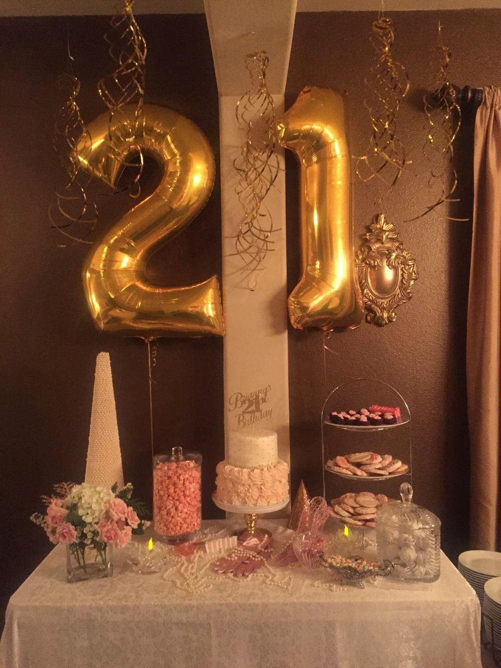 Birthday Decoration Ideas for 21st Luxury Pink and Gold 21st Birthday Celebration