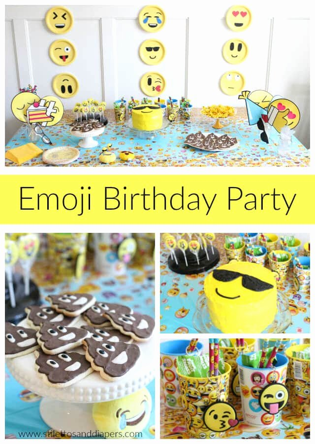 Birthday Decoration Ideas for 5 Year Old Boy New Callan S 5 Year Old Emoji Party Stilettos & Diapers