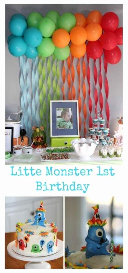 Birthday Decoration Ideas for Baby Boy at Home Awesome Baby Boy Birthday themes Backdrops 31 Ideas