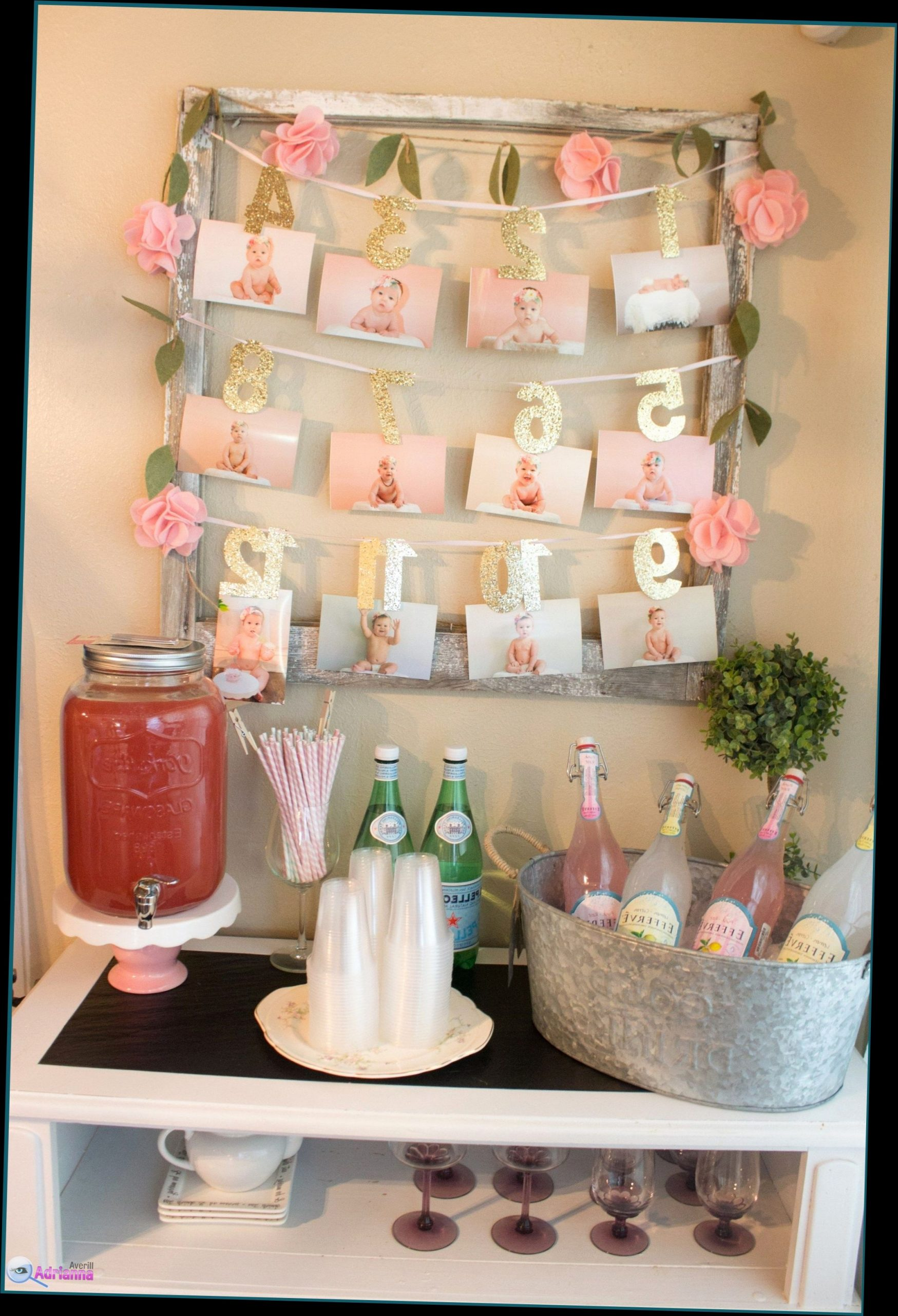 Birthday Decoration Ideas for Baby Girl at Home Best Of Birthday Decoration at Home for Girl theme for 1st Baby