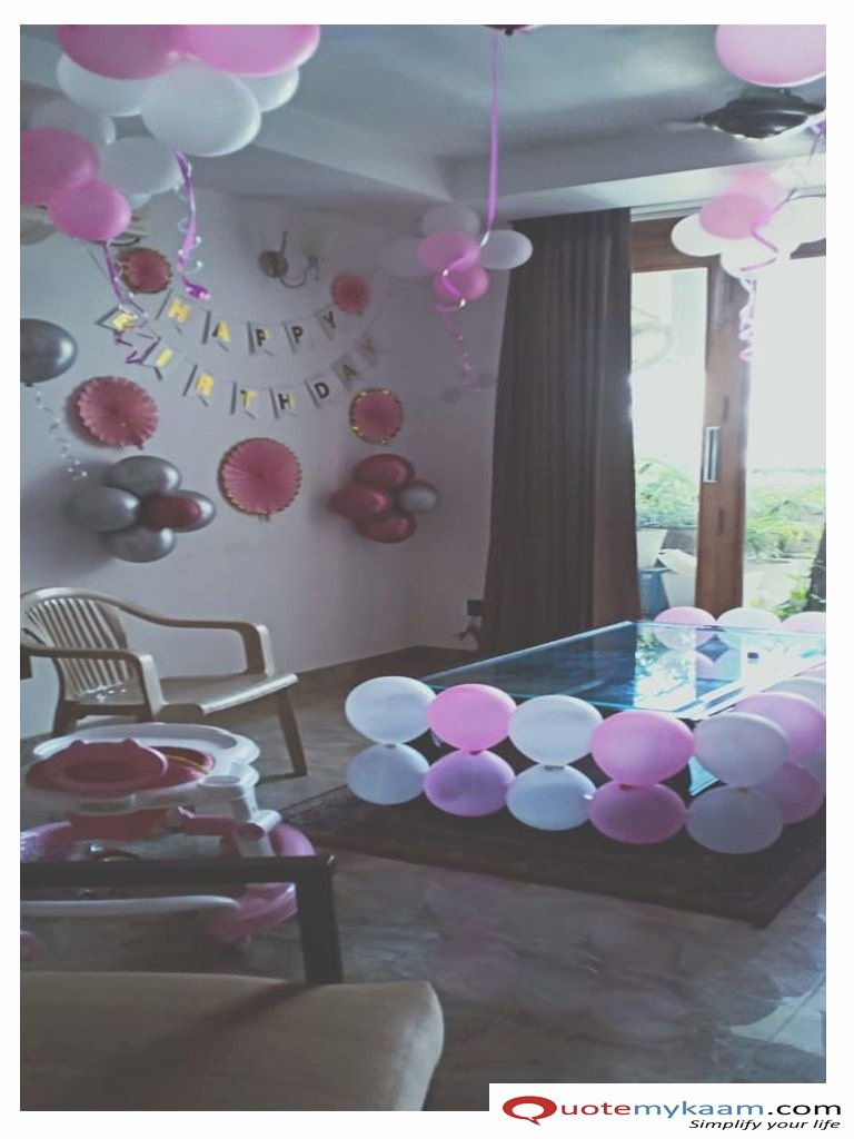 Birthday Decoration Ideas for Baby Girl at Home Elegant Birthday Decoration at Home
