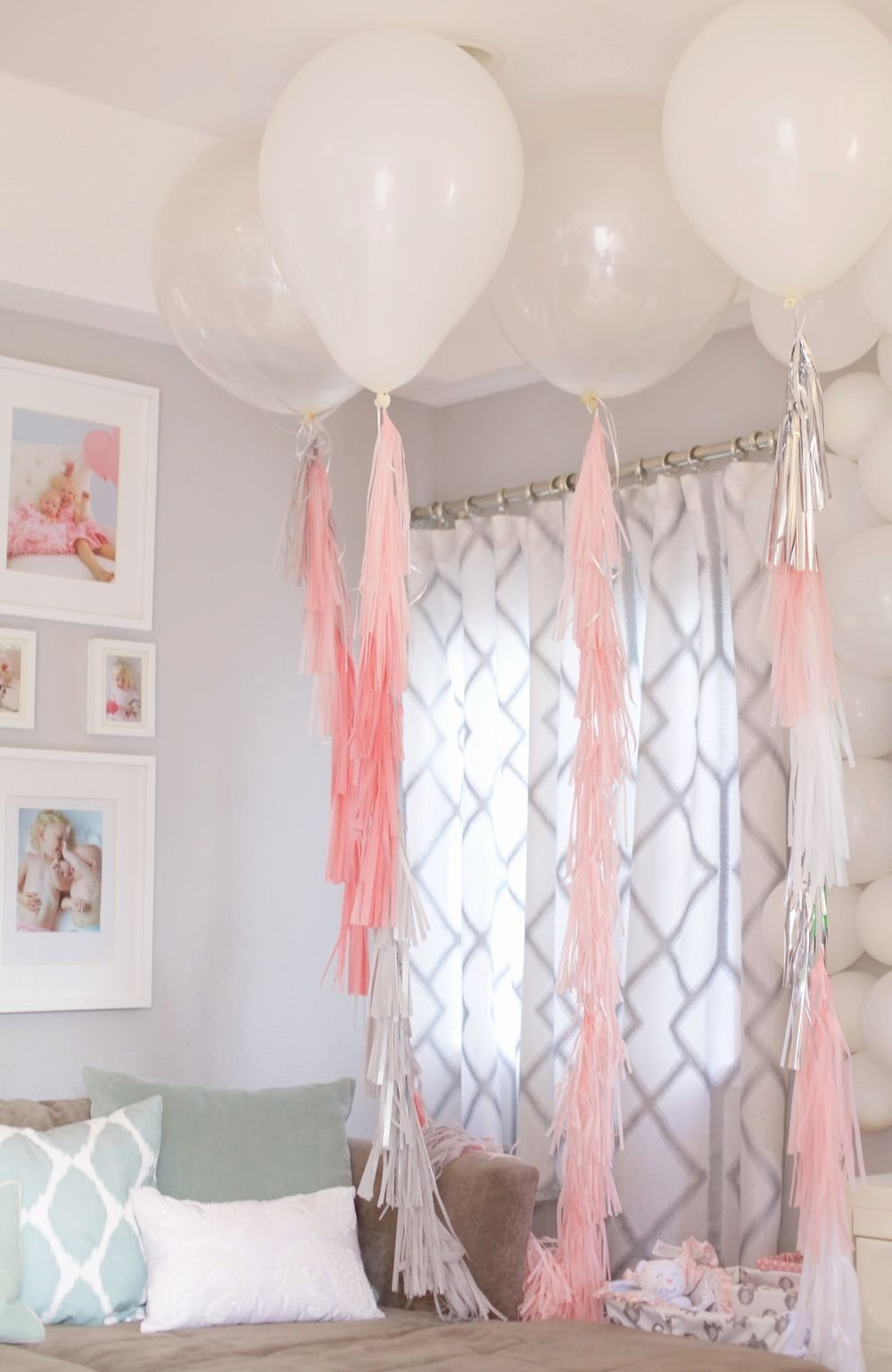 Birthday Decoration Ideas for Baby Girl at Home Inspirational Diy Baby Girl First Birthday Party Pinterest Projects Home