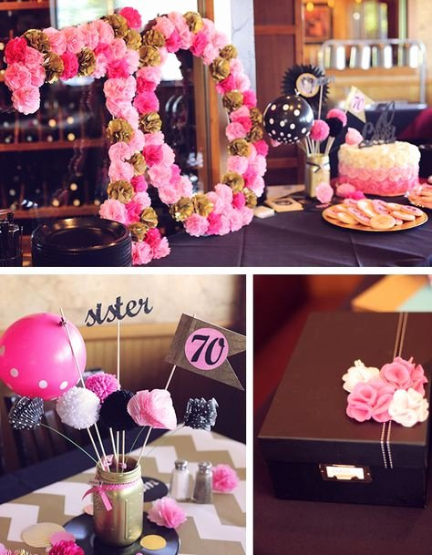 Birthday Decoration Ideas for Grandma Lovely Birthday Surprise Celebrating 70