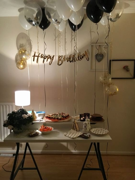 Birthday Decoration Ideas for Him at Home Beautiful Simple Birthday Decoration Ideas for Husband at Home In 2020