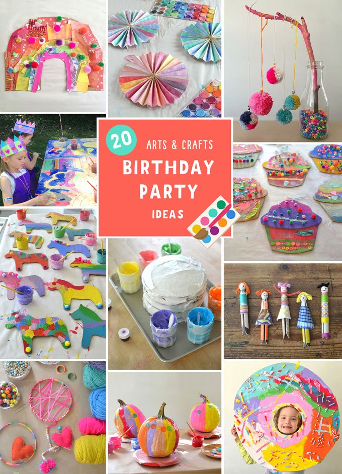 Birthday Decoration Ideas for Kids at Home Lovely Arts and Crafts Birthday Party for Kids