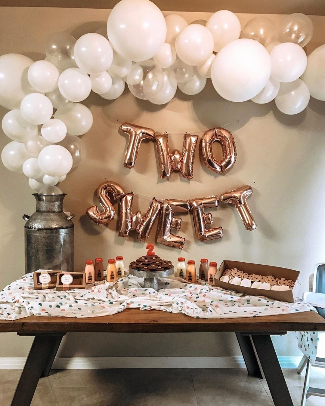 Birthday Decoration Ideas for Living Room New Two Sweet 2nd Birthday Party Birthday Decor Etsy